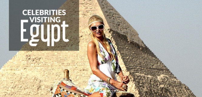 Celebrities visiting Egypt